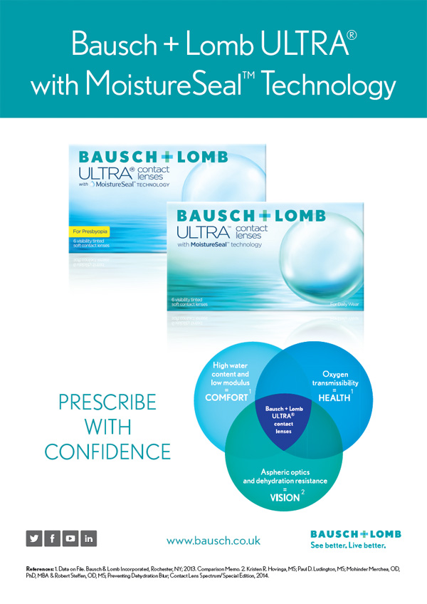 Bausch + Lomb ULTRA® with MoistureSeal™ Technology